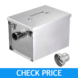 Yescom 8lbs 5GPM Gallon Per Minute Stainless Steel Grease Trap